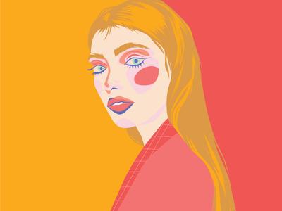 Self Portrait debut vibrant illustrator colorful flat vector design illustration graphic design digital illustration art