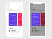 UI Design Challange #35 – Blog Post