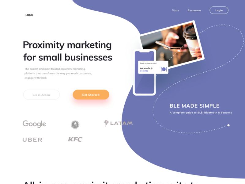 Proximity Marketing Website product design proximity marketing website design website humanising design typography design ui design