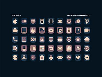 Harvest - iOS Icons icon jailbreak flat illustrator icons ios