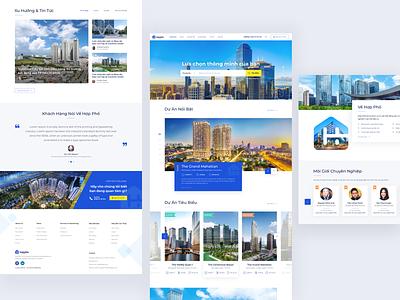 Real Estate & Property Website Design design clean design yellow blue property realestate business web website webdesign ui design ui ui ux design