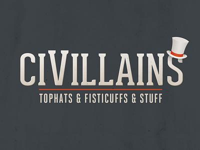 CiVillains Logo Design top hat game logo