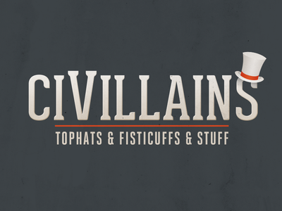 CiVillains Logo Design top hat game logo
