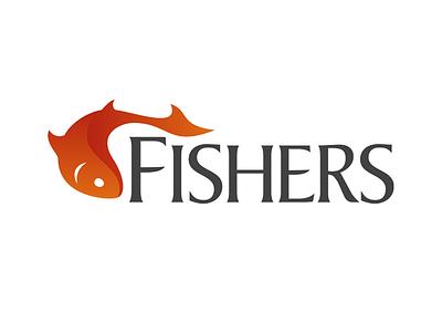Fishers Logo fish fishing logo