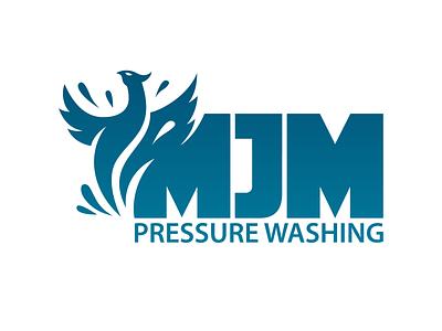 MJM Pressure Washing Logo phoenix branding logo design