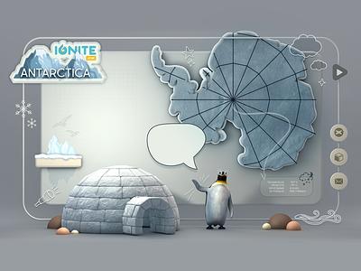 Antarctica - Splash Screen - Idea logo clouds tinyelements igloo penguin illustration 3d ux splash antarctica