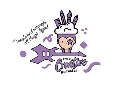 Mascot - Creative Rockstar confetti rockstar creative logo illustrator nanihothearts parlapalli nani coverletter mascot