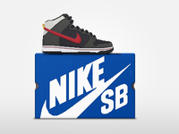 Nike SB Dunk High + Box Pixel Art Sneaker