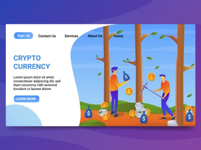 CryptoCurrency illustration vector design ui graphicdesign