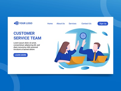 Landing page ilustration customer service website character customer service customer service customer service design character design design illustration design illustration landing page