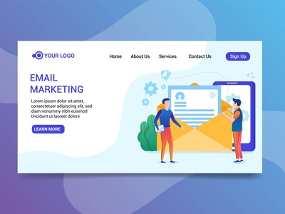 Landing Page Email marketing illustration illustration email marketing email marketing design illustration design character design landing page design design illustration landing page