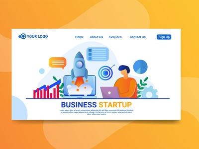 Landing page business startup illustration startup illustration character character design business startup illustration business startup illustration business startup illustration landing page