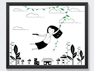 about wild girls falt design design indonesia character ilustration