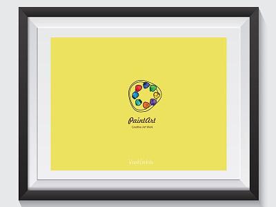 Paintart logo simple logo visual art graphicdesign pain art logo inpiration new logo logo