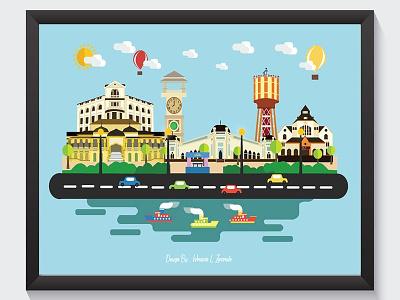Icon Medan,Indonesia ilustrasi city graphicdesign design ilustrasi flat design