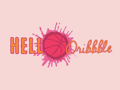 HELLO DRIBBBLE visual art graphicdesign new dribbble pain art logo inpiration new logo logo