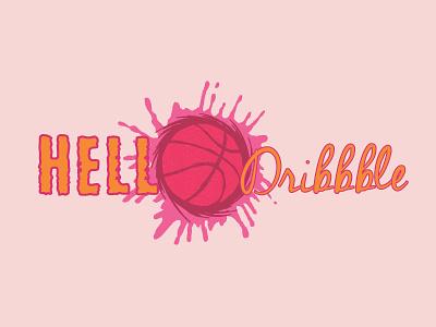 HELLO DRIBBBLE logo new visualar logo icon