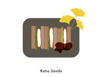Food illustration set // Katsu Sando