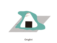Food illustration set // Onighiri
