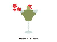 Food illustration set // Matcha Soft Cream