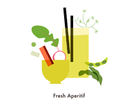 Food illustration set // Fresh Aperitif