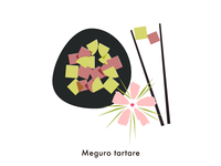 Food illustration set // Meguro Tartare
