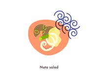 Food illustration set // Nuta Salad