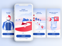 Rider App // Onboarding illustrations