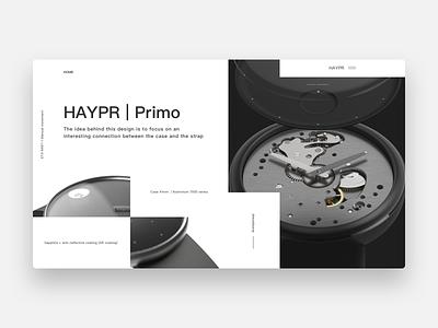 Wrist Watch Landing Page ux ui design website branding web
