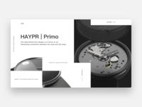 Wrist Watch Landing Page