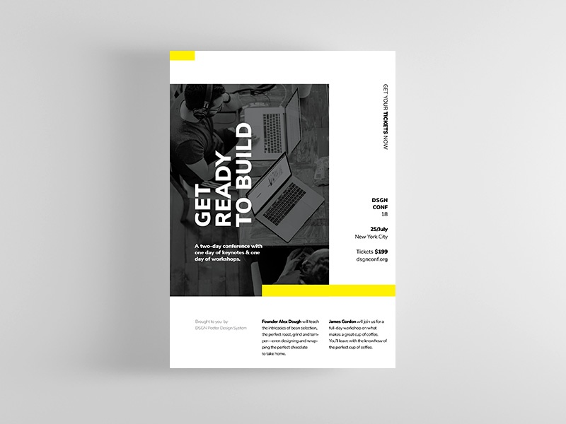 dsgn series 8 poster template by codetoform dribbble dribbble
