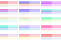 Colour palette options