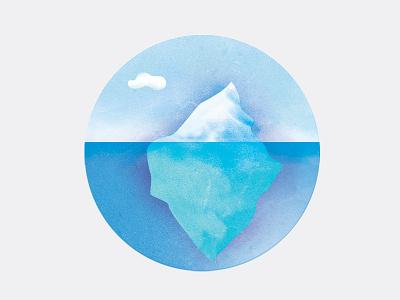 Iceberg greenpeace ocean cloud arctic badge texture iceberg icons illustration