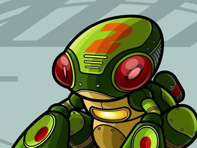Robot Frog illustration toy design robot vector photoshop
