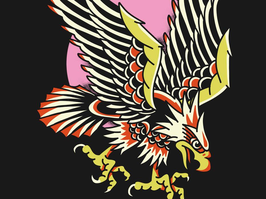 Traditional Tattoo Amerikan Bald Eagle eagle traditional tattoo traditional art illustration classic vintage