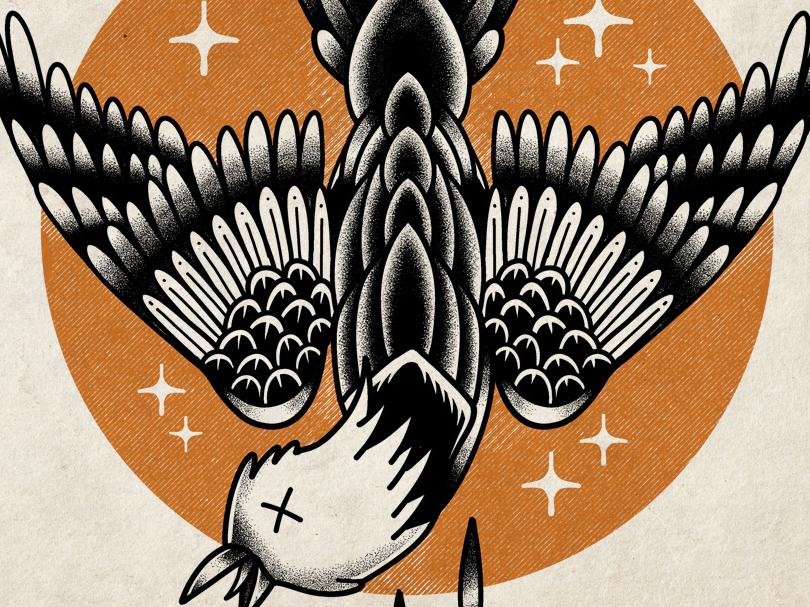 Deadcrow Tattoo design traditional tattoo illustration retro classic vintage