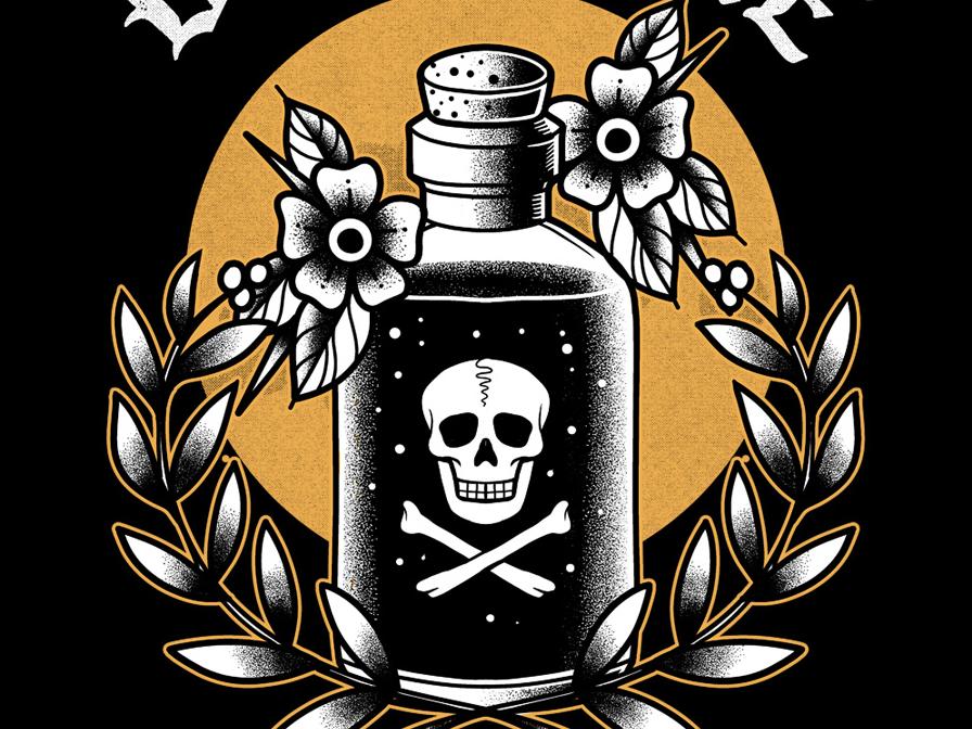 Drink Me apparel design tattoo retro illustration vintage