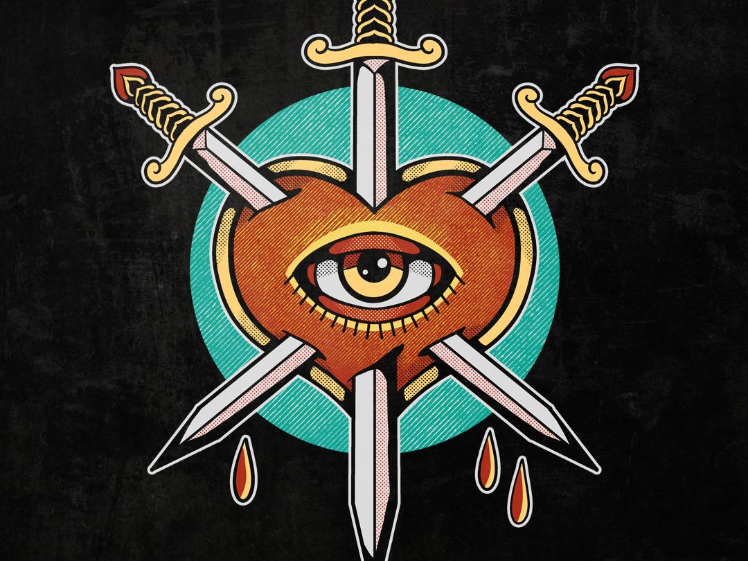 The Swords digitalart art clothing branding illustrator design artwork