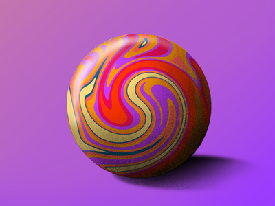 Crazy ball abstract vibrant ball illustration ipadpro procreate 3d 2d