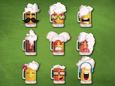 Oktobrew Characters vector illustrations dribble art nerd beer babe bae tanker flea junkie music lover nature lover chugger party animal beer mug character creation illustraion india nashik oktyobrew