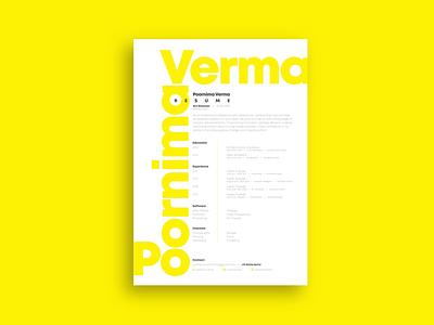 Resume template design yellow print artwork resume design abstract ipad pro pro create adobe illustrator illustrator adobe vector typography designer graphics graphic resume minimal flat branding design