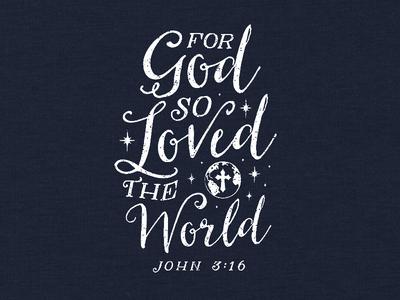 For God So Loved t-shirt religious faith christian apparel
