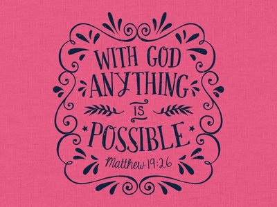 Anything is Possible t-shirt religious faith christian apparel