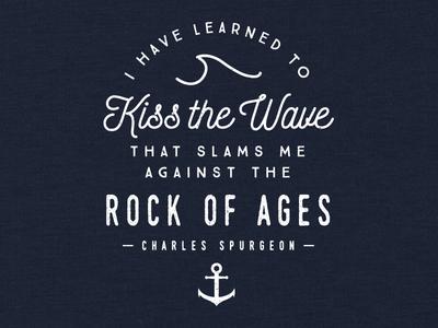 Kiss the Wave t-shirt religious faith christian apparel