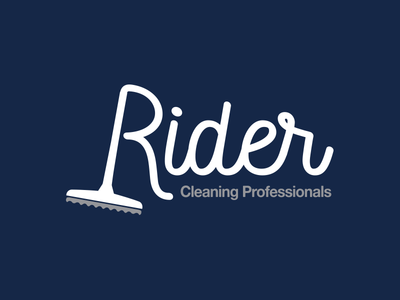 Rider Cleaning Professionals logo branding