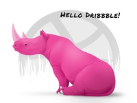 Rhino says Hello Dribbble