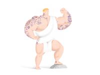 Tattooed Hercules