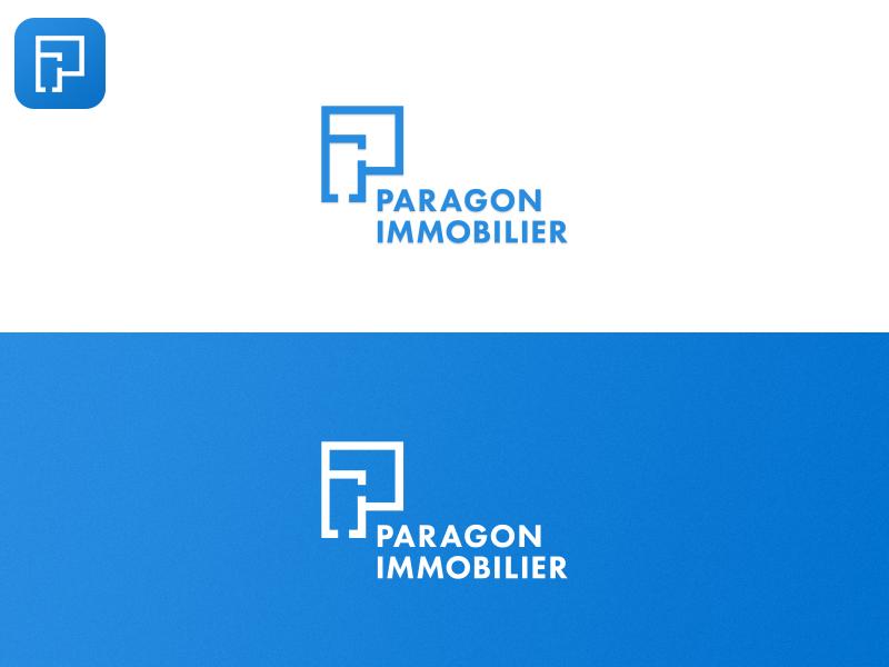 Paragon Immobilier logo logo app icon app minimal icon branding logo
