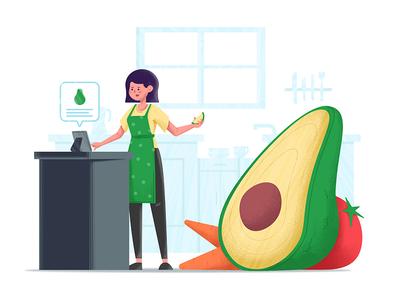 Health food avocado app vegetables health food health charachter
