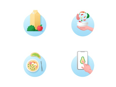 Health food icons icons set health food dishes food icon app